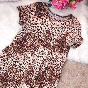 Lularoe cheetah leopard animal print Carly dress